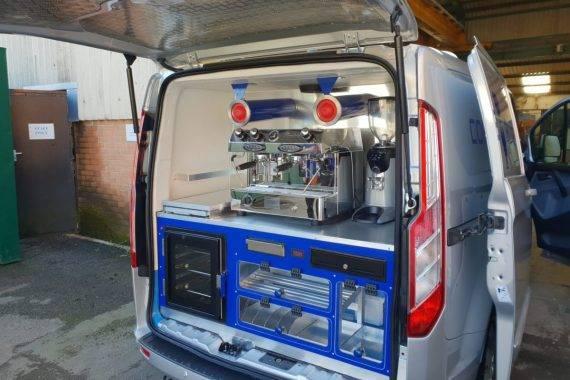 Barista Area of Mobile Coffee Van