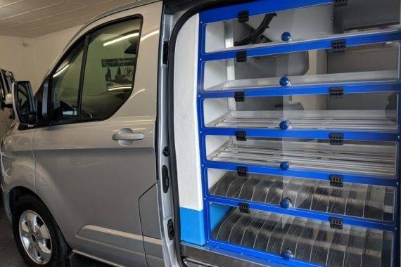 Self serve area in Coffee Blue Van